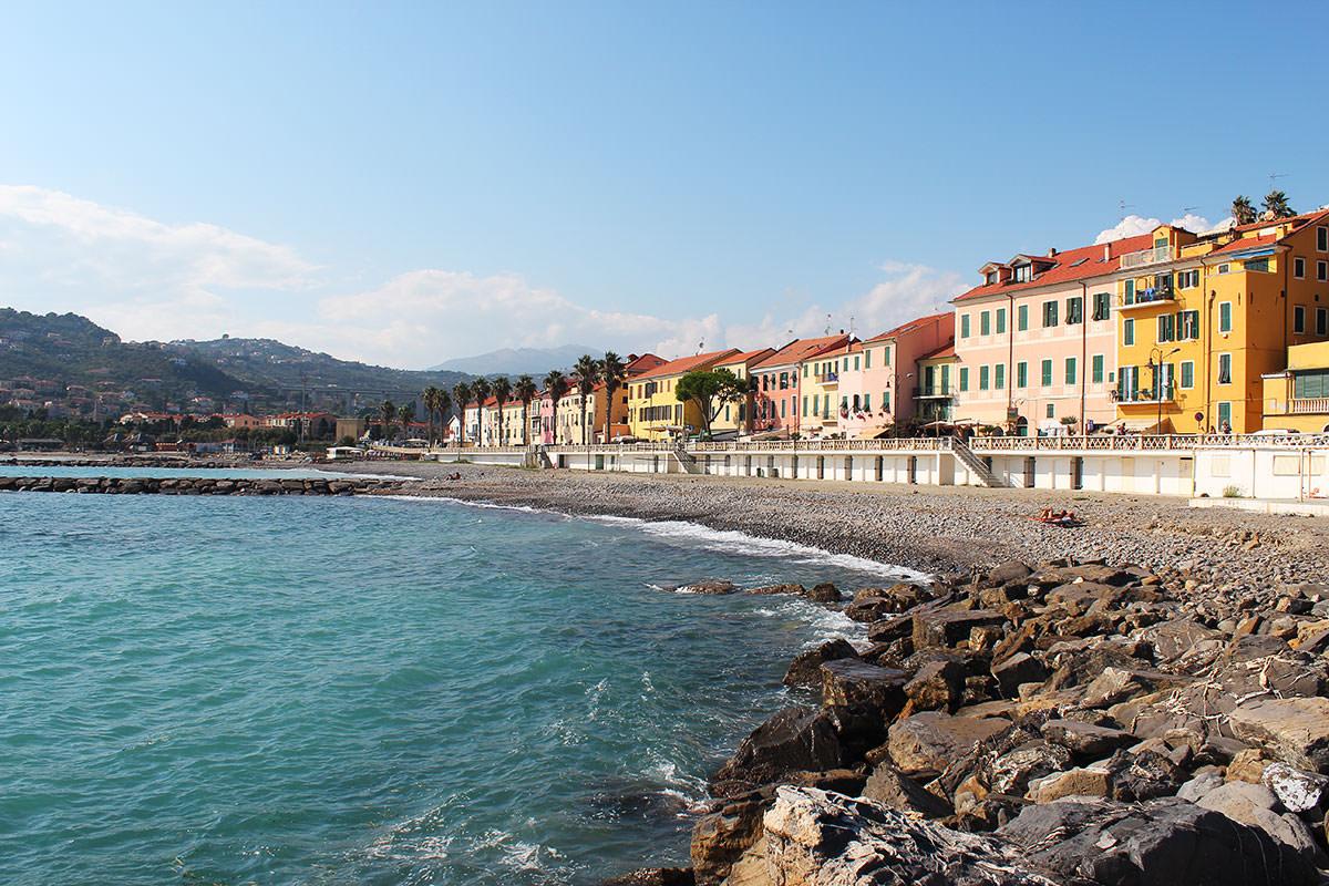 Le spiagge di Borgo Prino a Imperia