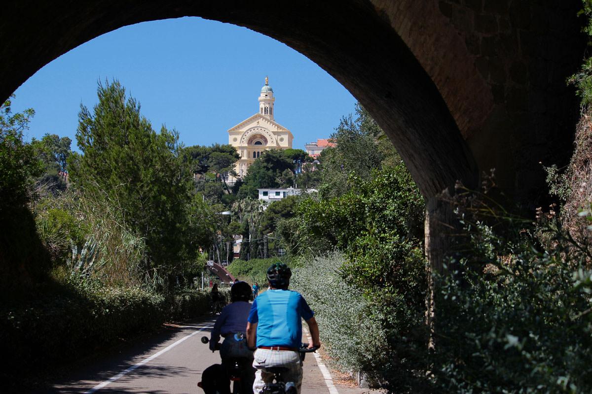 pista ciclabile bussana di Sanremo